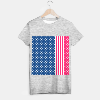 Miniaturka Abstract Patriotic pattern design T-shirt regular, Live Heroes