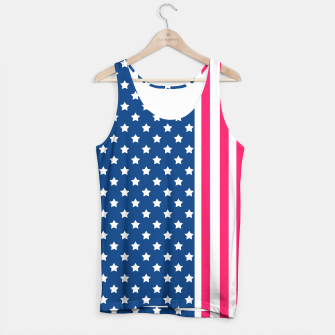 Thumbnail image of Abstract Patriotic pattern design Tank Top, Live Heroes