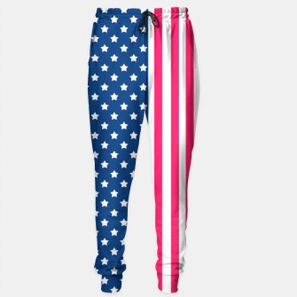 Thumbnail image of Abstract Patriotic pattern design Sweatpants, Live Heroes
