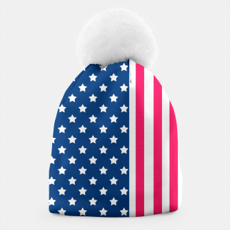 Thumbnail image of Abstract Patriotic pattern design Beanie, Live Heroes