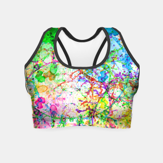Thumbnail image of Messy paint Crop Top, Live Heroes