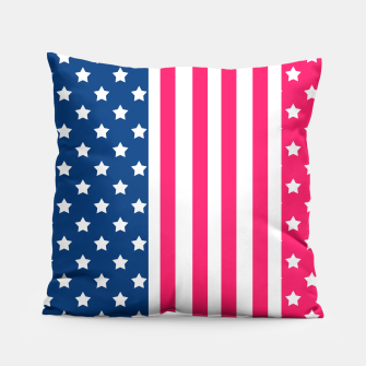 Thumbnail image of Abstract Patriotic pattern design Pillow, Live Heroes
