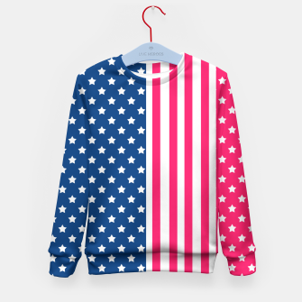 Thumbnail image of Abstract Patriotic pattern design Kid's Sweater, Live Heroes