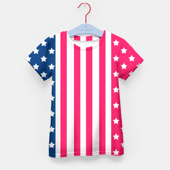 Thumbnail image of Abstract Patriotic pattern design Kid's T-shirt, Live Heroes
