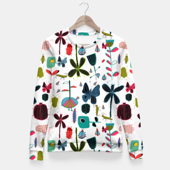 Miniatur Insect and bugs white Fitted Waist Sweater, Live Heroes