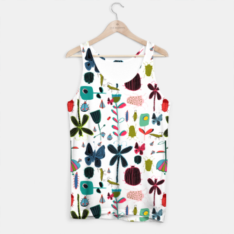 Miniatur Insect and bugs white Tank Top, Live Heroes