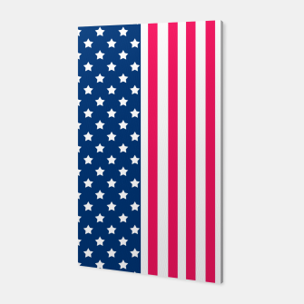 Thumbnail image of Abstract Patriotic pattern design Canvas, Live Heroes
