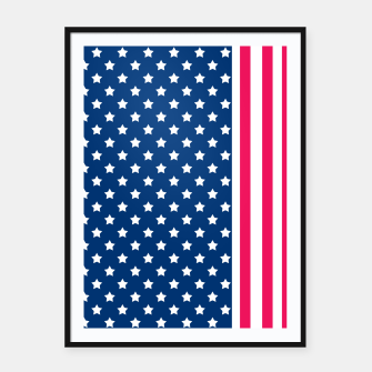 Thumbnail image of Abstract Patriotic pattern design Framed poster, Live Heroes