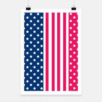 Thumbnail image of Abstract Patriotic pattern design Poster, Live Heroes