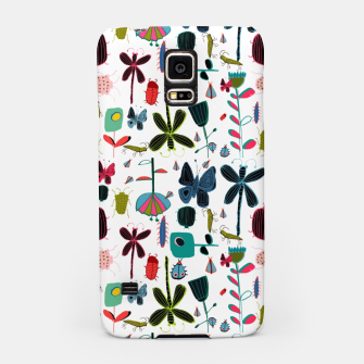 Miniatur Insect and bugs white Samsung Case, Live Heroes