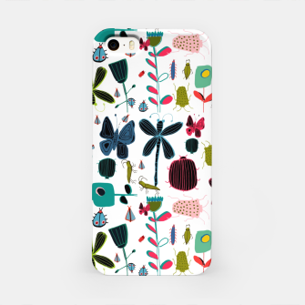 Miniatur Insect and bugs white iPhone Case, Live Heroes