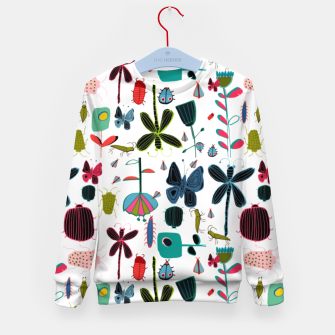 Miniatur Insect and bugs white Kid's Sweater, Live Heroes