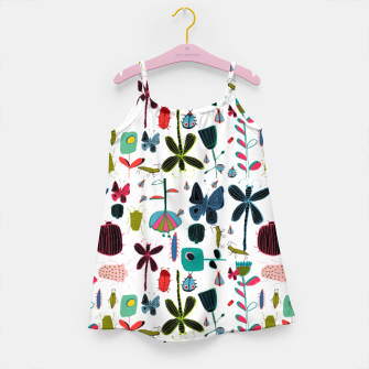 Miniatur Insect and bugs white Girl's Dress, Live Heroes