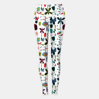 Thumbnail image of Insect and bugs white Leggings, Live Heroes