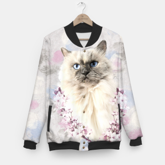 Thumbnail image of Watercolor Kitty College-Jacke, Live Heroes