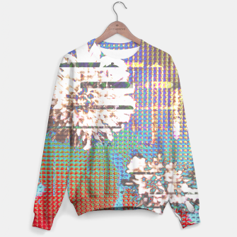 Thumbnail image of Abstract flower collage Sweater, Live Heroes