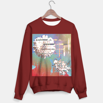 Thumbnail image of Abstract flower collage Sweater regular, Live Heroes