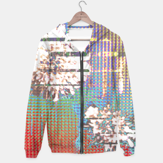 Thumbnail image of Abstract flower collage Hoodie, Live Heroes