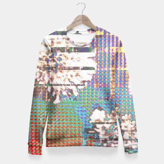 Thumbnail image of Abstract flower collage Fitted Waist Sweater, Live Heroes