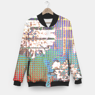Thumbnail image of Abstract flower collage Baseball Jacket, Live Heroes