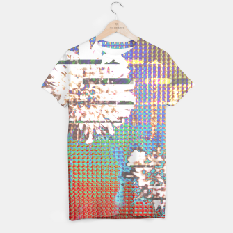 Thumbnail image of Abstract flower collage T-shirt, Live Heroes