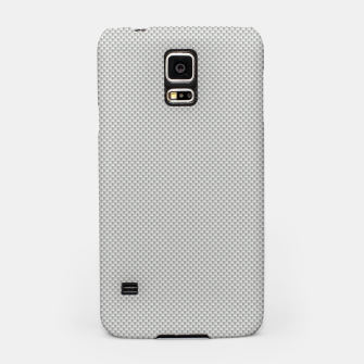 Thumbnail image of Gray Silver White Carbon Fibre Bulletproof Composite Samsung Case, Live Heroes