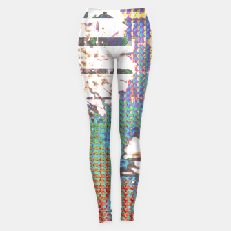 Thumbnail image of Abstract flower collage Leggings, Live Heroes