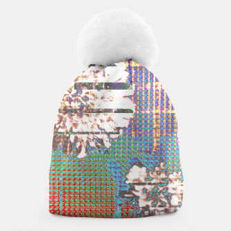 Thumbnail image of Abstract flower collage Beanie, Live Heroes
