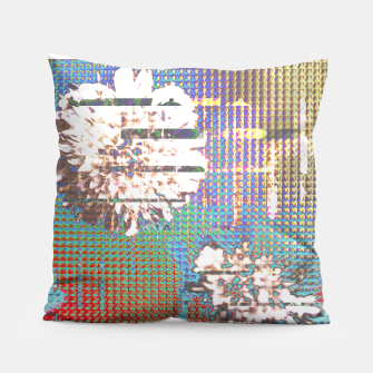 Thumbnail image of Abstract flower collage Pillow, Live Heroes