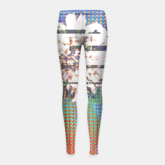 Thumbnail image of Abstract flower collage Girl's Leggings, Live Heroes
