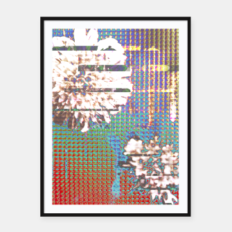 Thumbnail image of Abstract flower collage Framed poster, Live Heroes