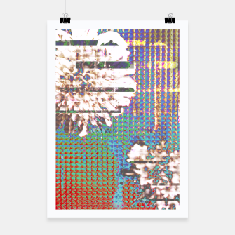 Thumbnail image of Abstract flower collage Poster, Live Heroes