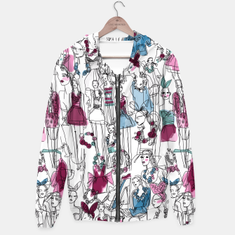 Thumbnail image of funny fashion girls pattern Hoodie, Live Heroes