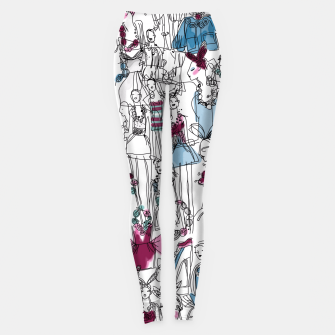 Thumbnail image of funny fashion girls pattern Leggings, Live Heroes