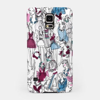 Thumbnail image of funny fashion girls pattern Samsung Case, Live Heroes