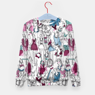 Thumbnail image of funny fashion girls pattern Kid's Sweater, Live Heroes