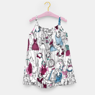 Thumbnail image of funny fashion girls pattern Girl's Dress, Live Heroes