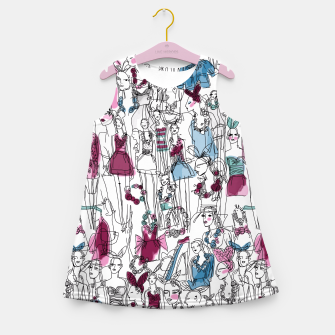 Thumbnail image of funny fashion girls pattern Girl's Summer Dress, Live Heroes