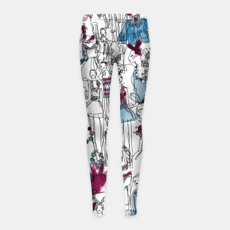 Thumbnail image of funny fashion girls pattern Girl's Leggings, Live Heroes