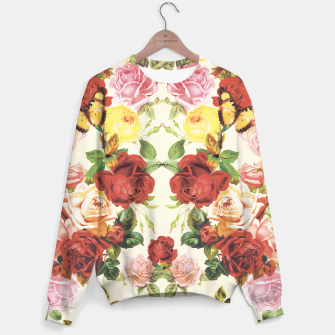 Miniature de image de Vintage flowers illustration Sweater, Live Heroes