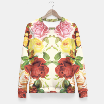 Thumbnail image of Vintage flowers illustration Fitted Waist Sweater, Live Heroes