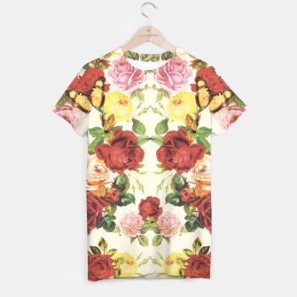 Miniature de image de Vintage flowers illustration T-shirt, Live Heroes