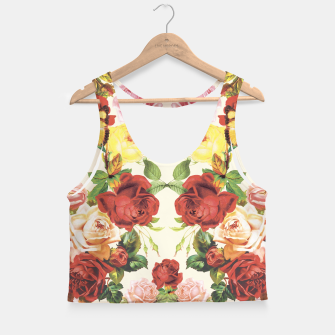 Miniaturka Vintage flowers illustration Crop Top, Live Heroes