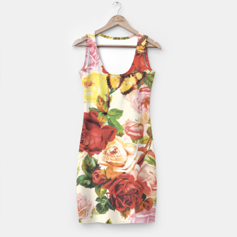 Miniatur Vintage flowers illustration Simple Dress, Live Heroes