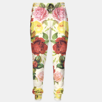 Miniaturka Vintage flowers illustration Sweatpants, Live Heroes