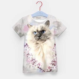 Thumbnail image of Watercolor Kitty T-Shirt für Kinder, Live Heroes