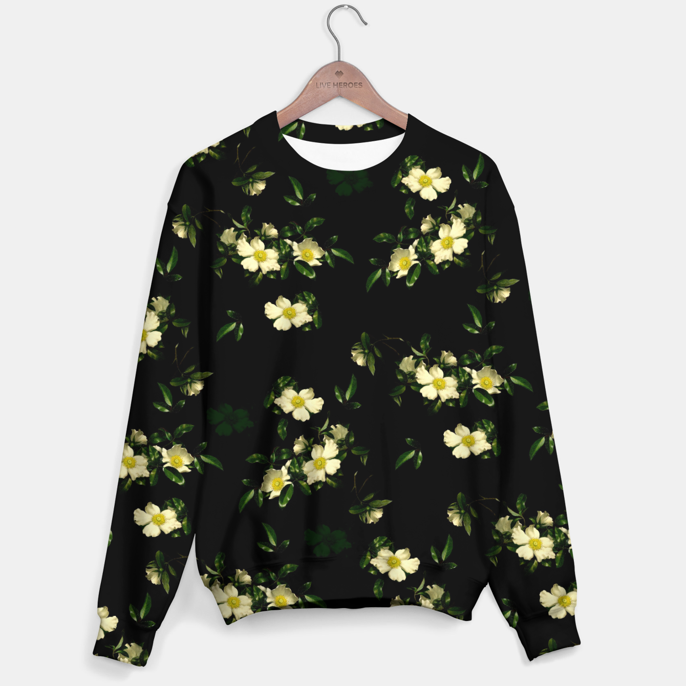 Image of Cherokee White Roses Sweater - Live Heroes