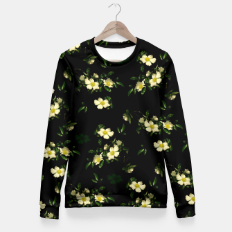 Cherokee White Roses Fitted Waist Sweater thumbnail image