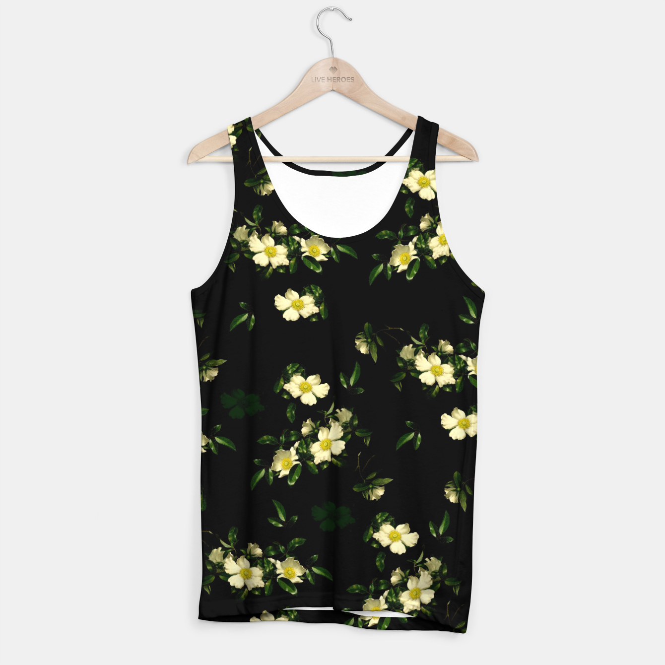 Image of Cherokee White Roses Tank Top - Live Heroes