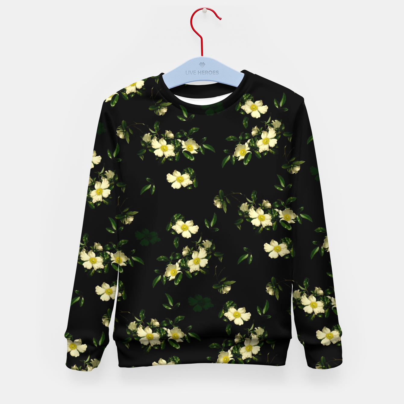 Image of Cherokee White Roses Kid's Sweater - Live Heroes